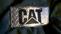 "New ""CAT"" diamond plate novelty license plate"