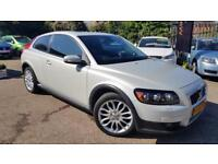 2007 VOLVO C30 2.0D*PEARL WHITE*HUGE SPEC*SAT-NAV*XENON*LEATHER