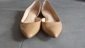 Banana Republic nude patent leather d'orsay flats