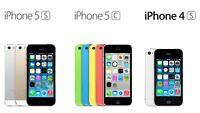 Réparation écrans iphone 6,5,5c,5s,4,4s