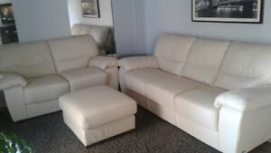 Leather Couch, Loveseat & Ottoman