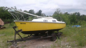 Sailboat - 22' Hullmaster Sloop (MUST SELL)