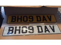 BH09 DAV Private reg registration cherished current style car number plate Celtic Dave Davie bhoy
