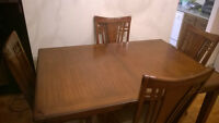9pcs Solid Wooden Dining Table & Dining Board | Salle a Manger