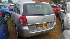 2008 Vauxhall Zafira 1.6i 16v 115 Expression petrol