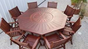 ( 9 pce) Outdoor Kwila outdoor dining setting ! Brisbane City Brisbane North West Preview