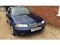 A Rover 200 3dr. 2.0 turbo diesel. Very low mileage for year. For details call Lyn on 07423 196191