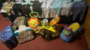 Various baby itoms. Mostly boy clothes some girl