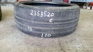 Single Pirelli PZero 235/35R20 tire (60% tread life)