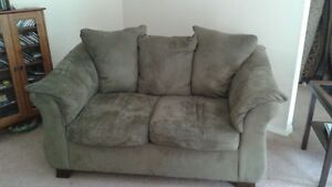 Olive Coloured Love Seat
