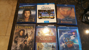 Blu Ray DVDs Lord of the RINGS, Braveheart,Narnia, Wall-E & more