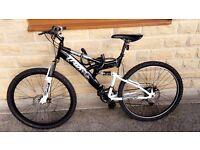 Trax dual suspension mountain bike