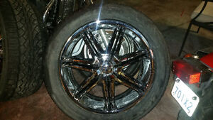 "22"" Boss rims and tires"