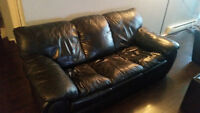 Extremely Comfortable Leather Couch - Price negotiable