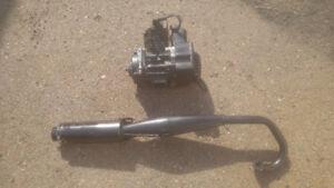 Pocket bike motor and exhaust