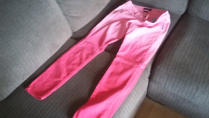 2 tone pink Silver jeans