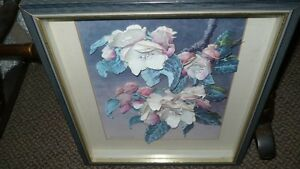 VINTAGE BEAUTIFUL 3D HAND CAST PAPER ART FLORAL SHADOW BOX Kitchener / Waterloo Kitchener Area image 8