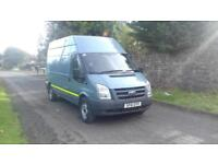 Ford Transit T 350 LWB High, fitted Pto compressor and 110v power supply