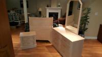 Custom solid wood single bedroom set