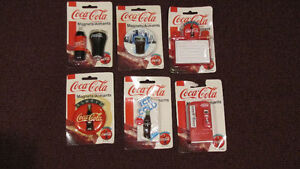 Lot of 6 Different Coca-Cola Magnets