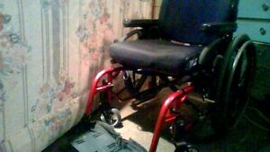 Sporty Red WheelChair - LIKE NEW CONDITION