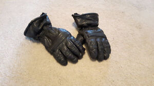 Leather winter motorcycle gloves (medium)