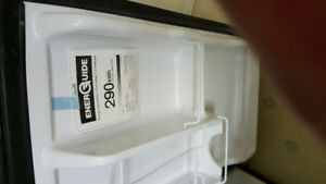 NEW STAINLESS  STEEL SMALLER FRIDGE , USED 2 MONTHS DO NOT NEED