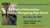 High School Event for Families Living with Disabilities