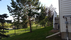Townhouse End unit backing onto water pond and walking trail.