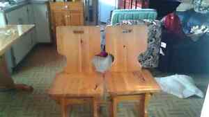 Solid pine kitchen table, chairs, and stand. St. John's Newfoundland image 2