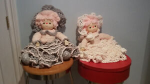 HAND MADE DOLLS WITH HAND MADE DRESSES