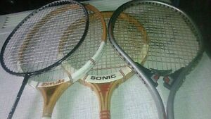 Four Older Badminton Rackets!