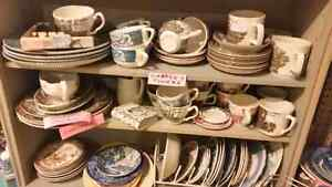 Mix and match Ironstone antique scenes dinnerware