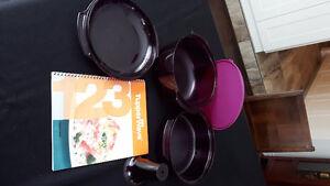 Tupperware / Tupperwave with recipe book