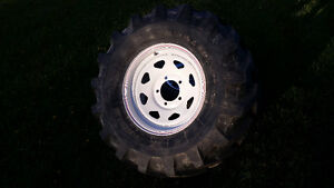4  11R 16 inch M27 Michelin Radial mud tires on white spoke rims