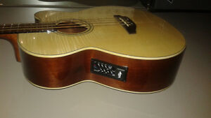 Vintage (brand) Electric/Acoustic Bass Guitar