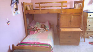 Good condition solid wood bunk bed