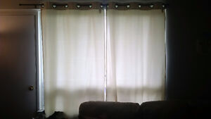 Cream / white curtains for large window with rod