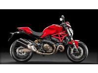2016 Ducati Monster 821 Stripe Red 450 Miles | £99 pcm