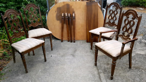 Project dining room table and chair set
