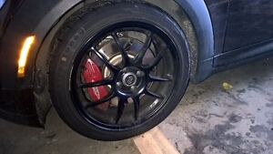 "17"" Enkei PF01 Matte Black with 205/45/17 firehawk indy 500"