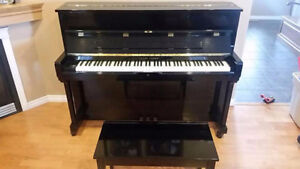 Young Chang Apartment Piano with Bench