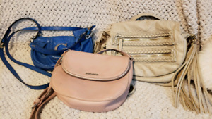 3 side satchel purses in great condition