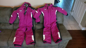 Girls One Piece Snowmobile Snow Suit Size 8, size 10