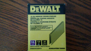 Brand New .......DeWalt Narrow Crown staples