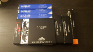 Mac and Estee Lauder makeup bundle (Lip products and foundation)