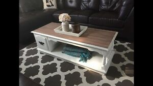 Vintage refinished coffee table