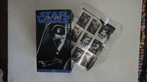 Orginal Star Wars Trilogy VHS Tapes with collectable stamps