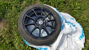 "VW 18"" Motorsport Rims + General Exclaim Tires"