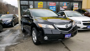 2014 ACURA RDX TECH PKG AWD SUV blk ON blk WITH ONLY 99,560 KM
